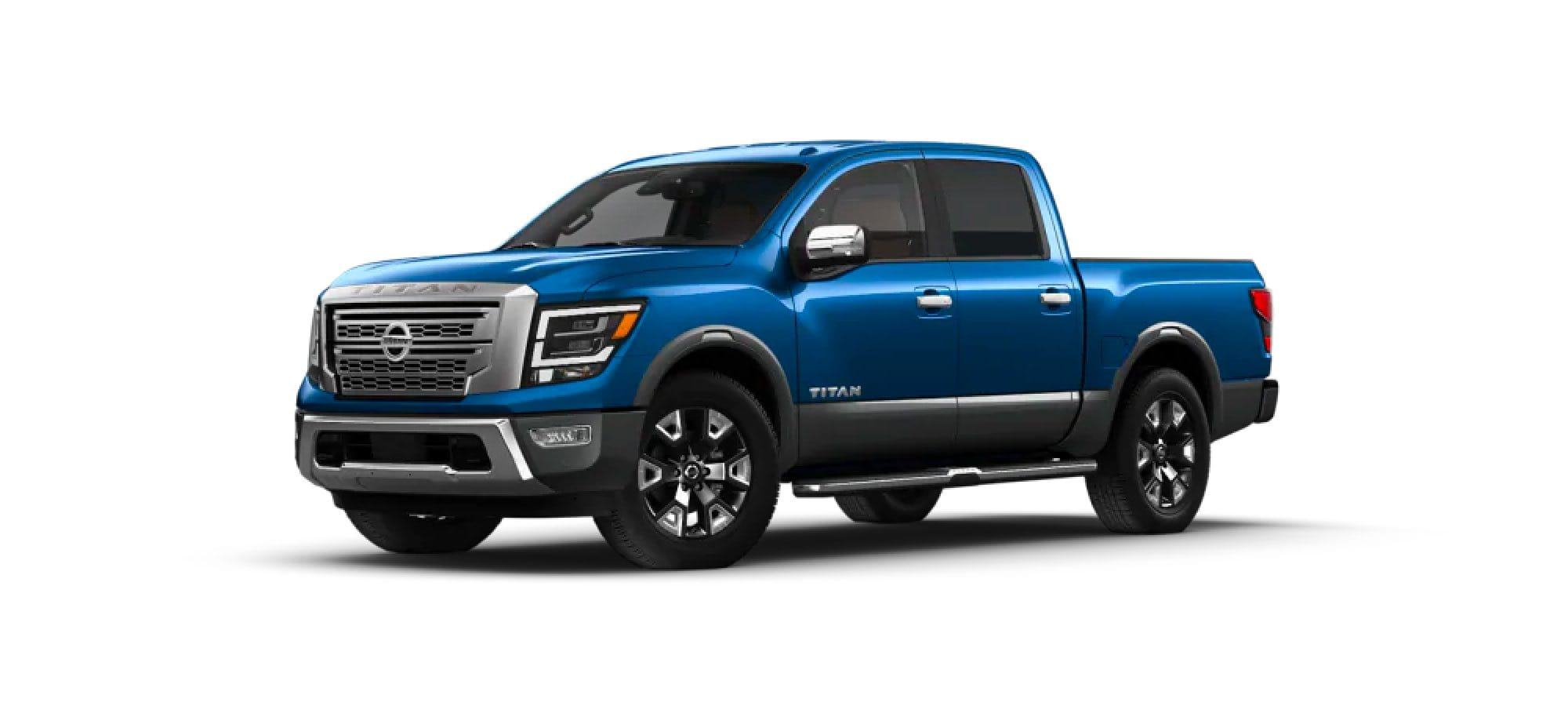Deep Blue Pearl Metallic/Gun Metallic Nissan TITAN