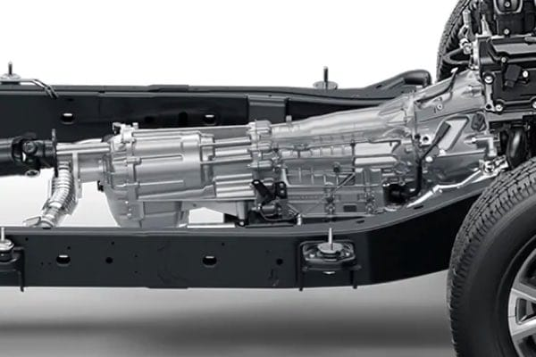 Nissan TITAN 9-speed transmission and chassis