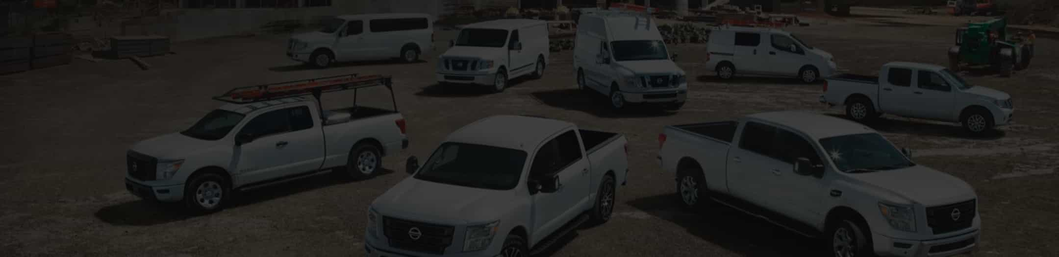 Lineup of Nissan commercial vehicles