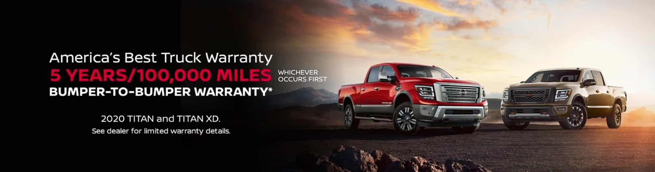 Nissan Best Truck Warranty Banner