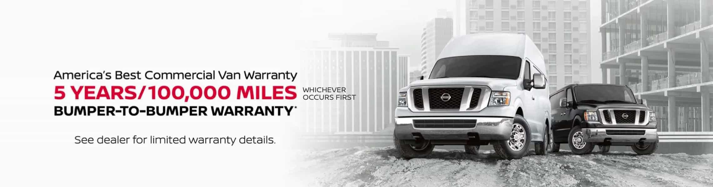 Nissan Commercial Van Warranty Banner