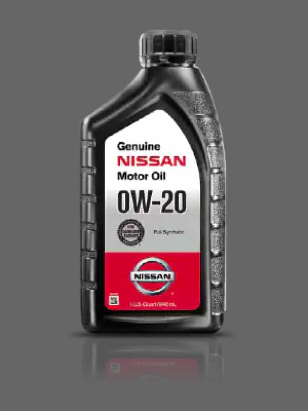Bottle of Genuine Nissan 0W-30 Synthetic Motor Oil