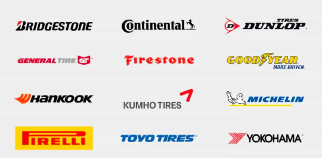 List of different name brand tire companies